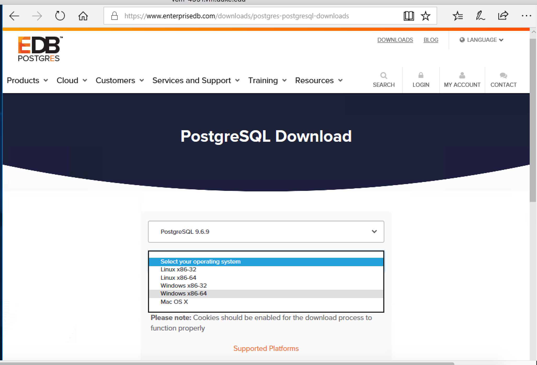 Download postgres